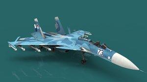 3D sukhoi su-33