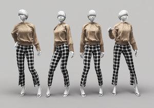 woman mannequin 10 3D model