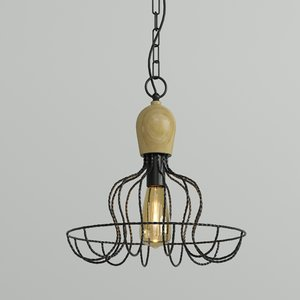hanging lamp loft house 3D