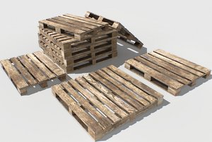 industrial pallets 3 model