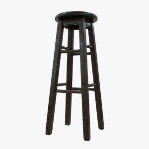3D model painted bar stool