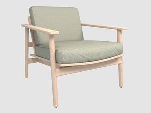 3D model riva lounge chair