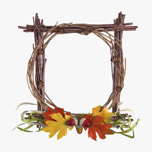 woodland wreath autumn 3D