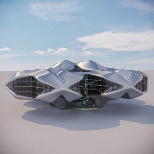 3D futuristic building 14