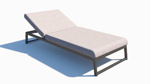 outdoor metal fabric sunlounger model