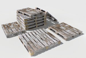 industrial pallets 3D model