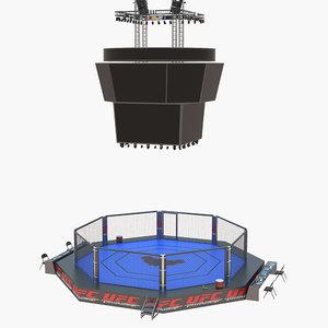 ufc arena fight 3D