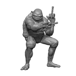 raphael raph mutant ninja turtles 3D model