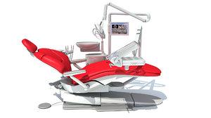 dental treatment unit chair 3D