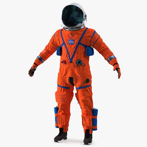 3D orion crew survival spacesuit model