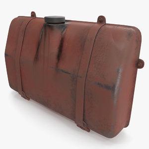 rusty gas tank 3D model