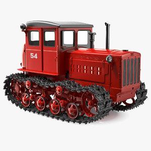 soviet crawler tractor dt54 3D model