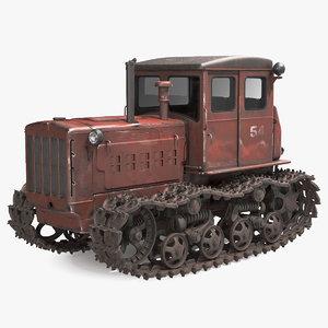 old rusty soviet crawler model