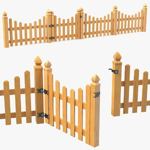 3D scalloped fence section