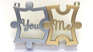 valentine puzzle pieces 3D model