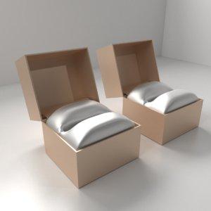 3D model small big satin ring