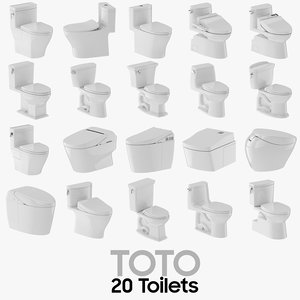3D 20 toto toilet modeled