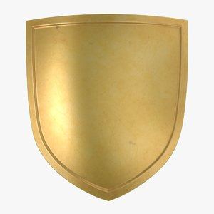 3D model gold shield 03