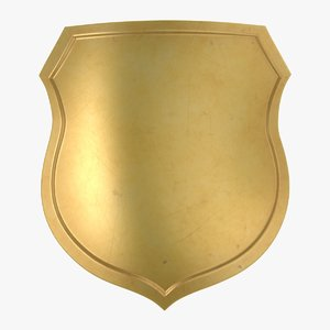gold shield 02 3D