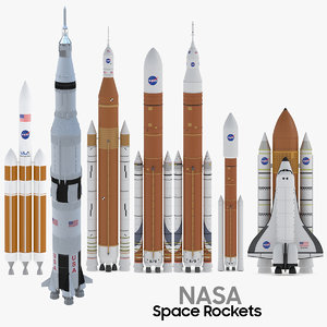 7 nasa space rocket 3D model
