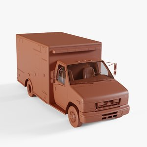 3D vehicle ambulance van model