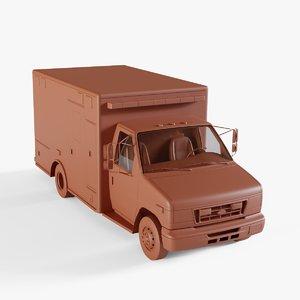 3D vehicle ambulance van model
