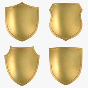 3D gold shield