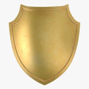 3D gold shield 04