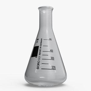 3D erlenmeyer flask
