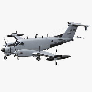 beechcraft rc12x guardrail army 3D model