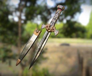 roman dagger 3D