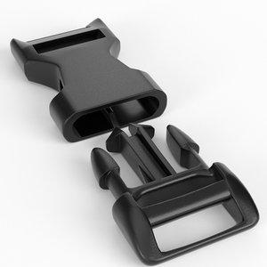 3D snap buckle model