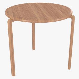 minimalist wooden artek alvar aalto 3D