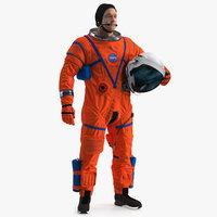 Astronaut in Orion Crew Survival System Spacesuit