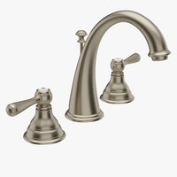 Moen Kingsley T6125BN Two-Handle High Arc Bathroom Faucet Brushed Nickel