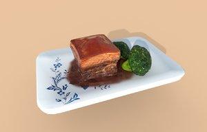 3D asia food dongpo fang