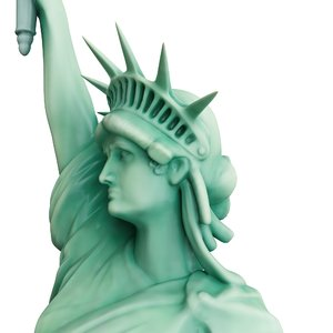 modeled statue liberty 3D model