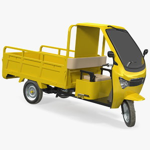 3D model electric cargo tricycle rickshaw