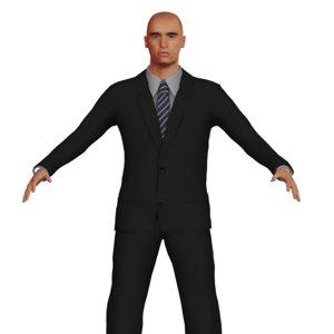 3D adult man suit