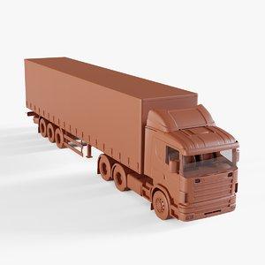 3D tir truck