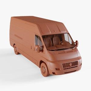 post van 3D model