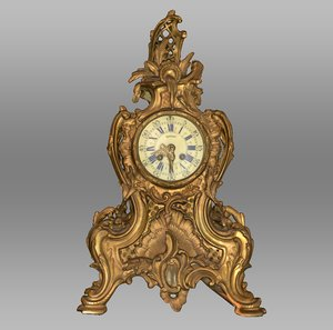 3D antique clock