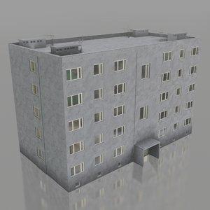 block flats 3D model
