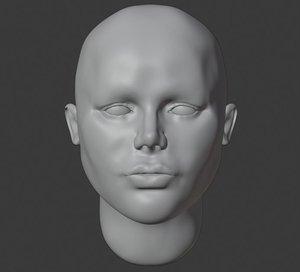 girl head starter starting 3D