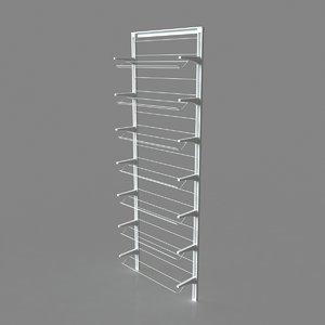 3D algot shoe rack ikea model