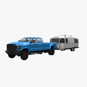 3D airstream trailer pickup