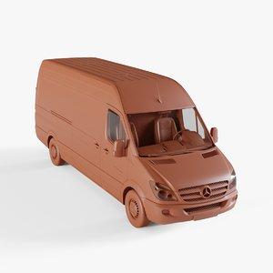 3D van car model