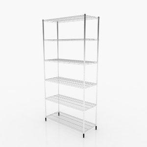 3D omar 1 shelf section model
