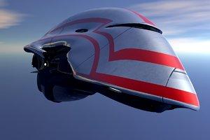 3D spaceship design vehicles model