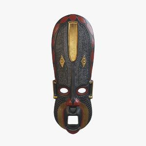 3D african mask v4